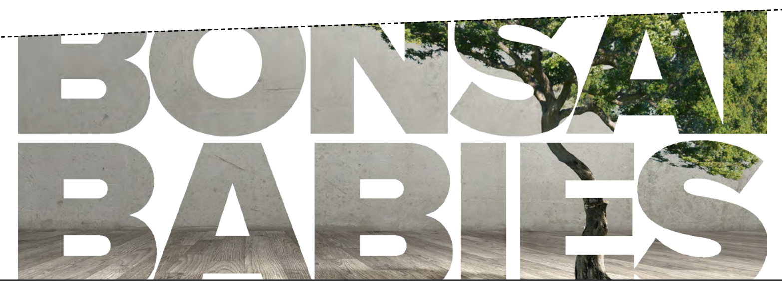 Image text: 'Bonsai Babies'