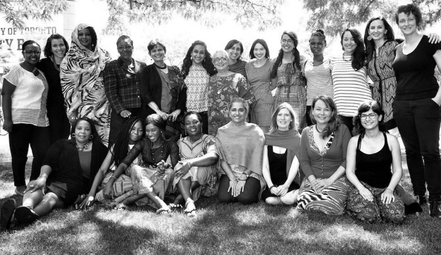 Greyscale photo of women at Human Rights Education Institute (WHRI)