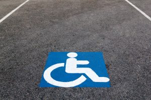 Photo of a disability parking space.
