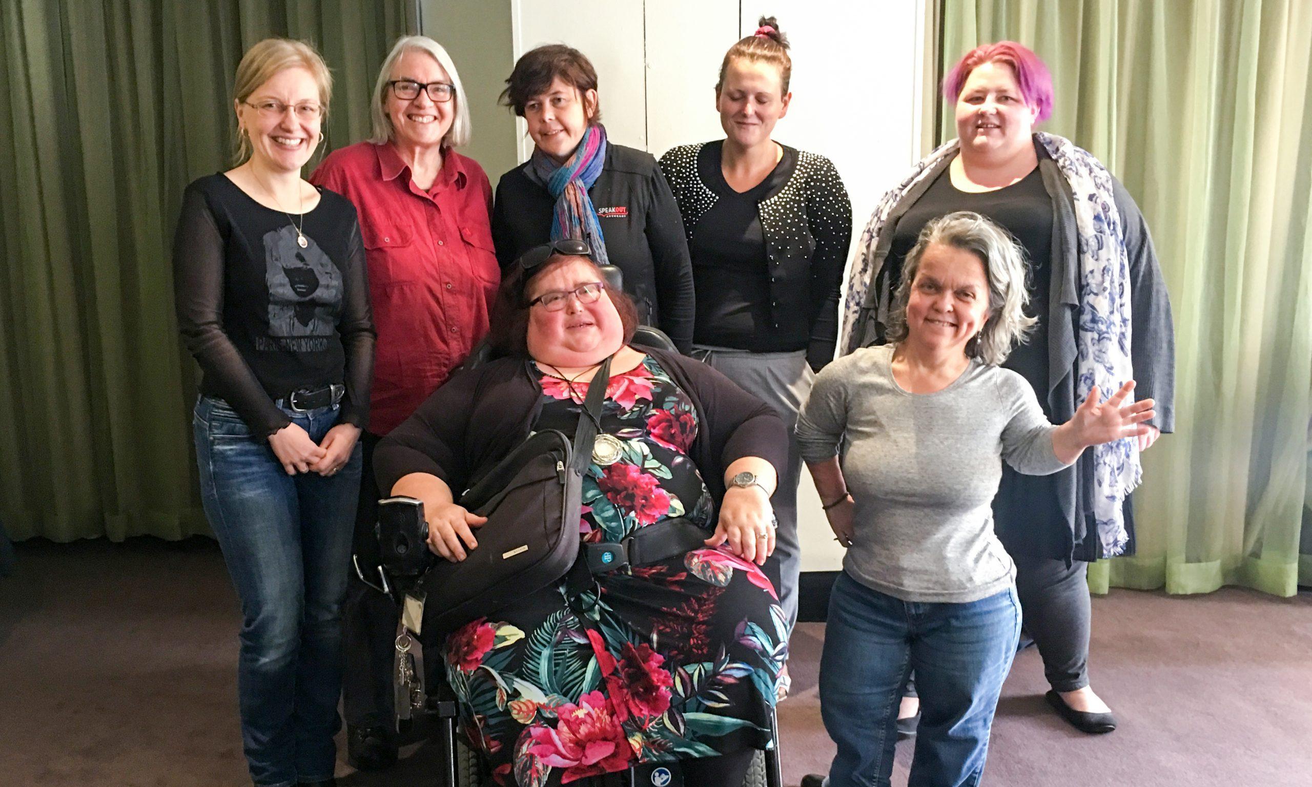 Back (L): Iva Strnadová (President), Pamela Menere (Treasurer), Monique Crowden, Jess White, Cherohn Rule. Front (L): Karin Swift, Fiona Strahan (Vice-President).