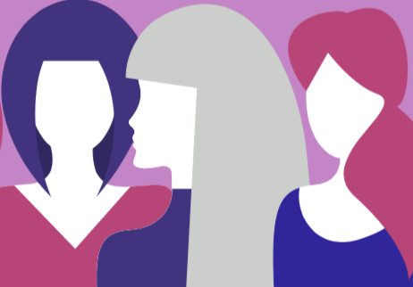 Illustration of 3 women.