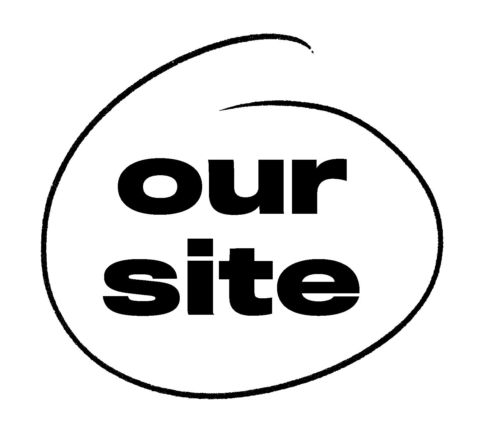 Black Our Site logo