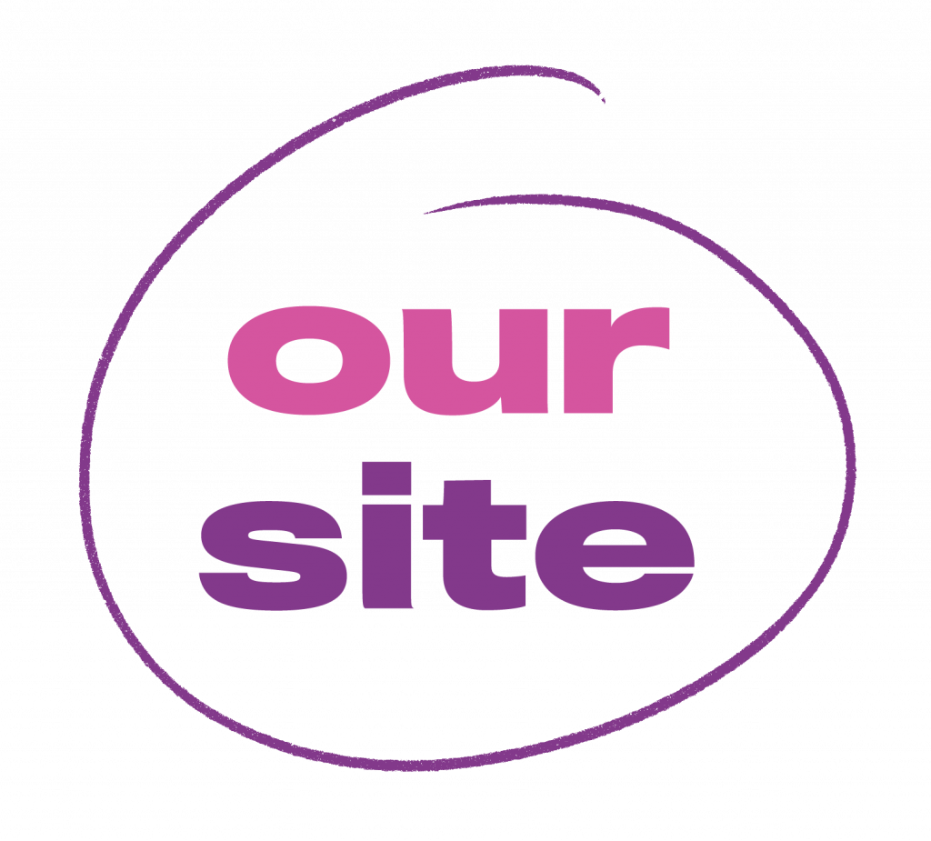 Our Site logo in purple circle