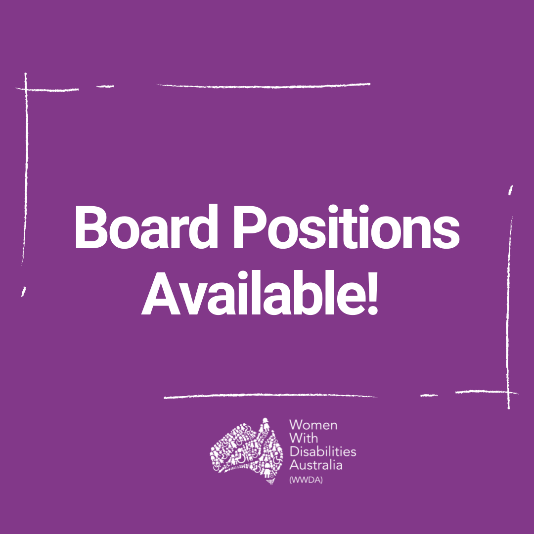 Purple background with white text: 'Board Positions Available'